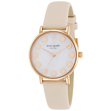 Buy kate spade new york 1YRU0768 Women's Metro Dot Watch, Nude Online at johnlewis.com