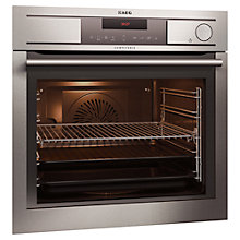 Buy AEG BS8314001M Built-In Single Electric Oven, Stainless Steel Online at johnlewis.com