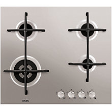 Buy AEG HG654421UM Gas Hob, Stainless Steel Online at johnlewis.com
