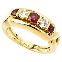 Buy Turner & Leveridge 1980s 18ct Gold Ruby Diamond Ring, Gold Online at johnlewis.com