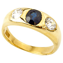Buy Turner & Leveridge 1900 18ct Gold Sapphire & Diamond Ring, Gold Online at johnlewis.com