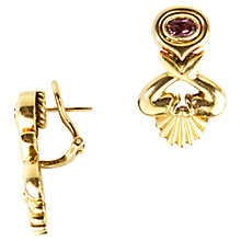 Buy Turner & Leveridge 1994 18ct Gold Pink Tourmaline Earrings, Gold Online at johnlewis.com