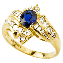 Buy Turner & Leveridge 1992 18ct Gold Sapphire Diamond Ring, Gold Online at johnlewis.com