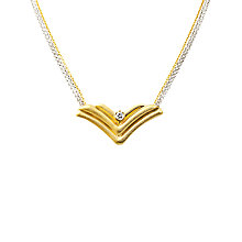 Buy Turner & Leveridge 1980 18ct Gold Diamond Pendant Necklace, Gold Online at johnlewis.com