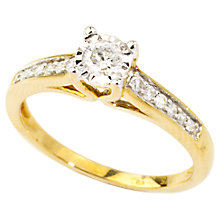 Buy Turner & Leveridge 2013 9ct Gold Diamond Ring, Gold Online at johnlewis.com