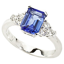 Buy Turner & Leveridge 2000 18ct Gold Diamond Tanzanite Ring, Purple/Blue Online at johnlewis.com