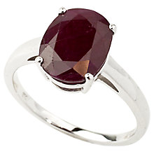 Buy Turner & Leveridge 9ct White Gold Single Stone Ruby Ring Online at johnlewis.com