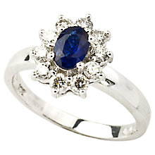 Buy Turner & Leveridge 2004 18ct Gold Sapphire Diamond Ring, White Online at johnlewis.com