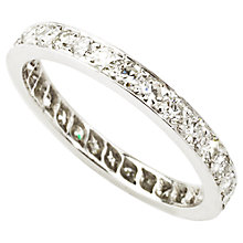Buy Turner & Leveridge 1970s 18ct Gold Diamond Eternity Ring, White Online at johnlewis.com