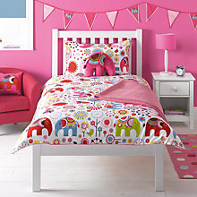 Buy little home at John Lewis Abbey Elephant Single Duvet Cover and Pillowcase Set Online at johnlewis.com