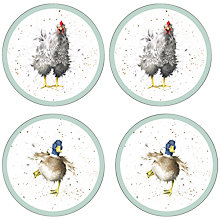 Buy Pimpernel Wrendale Round Coasters, Set of 4 Online at johnlewis.com