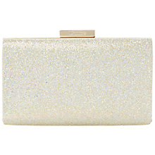 Buy Dune Bianka Glitter Box Clutch Bag, Champagne Online at johnlewis.com