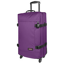 Buy Eastpak Trans4 75cm Large 4-Wheel Suitcase, Purple Online at johnlewis.com