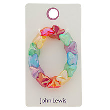 Buy John Lewis Girls' Bright Heart Bracelet, Lilac Online at johnlewis.com