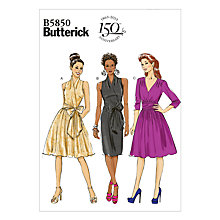 Buy Butterick 150th Anniversary Women's Dress Sewing Pattern, 5850 Online at johnlewis.com