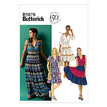 Buy Butterick Women's Dress Sewing Pattern, 5878 Online at johnlewis.com