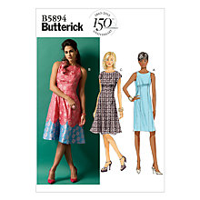 Buy Butterick Women's Dress Sewing Pattern, 5894 Online at johnlewis.com