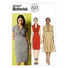 Buy Butterick Women's Dress with Ruffles Sewing Pattern 5917 Online at johnlewis.com
