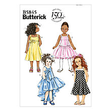 Buy Butterick Children's Dress Sewing Pattern, 5845 Online at johnlewis.com