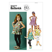 Buy Butterick Children's Top and Trousers Sewing Pattern, 5877 Online at johnlewis.com