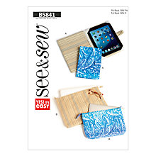 Buy Butterick Accessories Tablet Cover Sewing Pattern, 5841, A Online at johnlewis.com