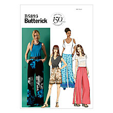 Buy Butterick Women's Trousers Sewing Pattern, 5893 Online at johnlewis.com