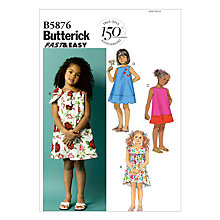 Buy Butterick Children's Dress Sewing Pattern, 5876 Online at johnlewis.com