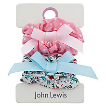 Buy John Lewis Girl Print & Polka Hair Scrunchies, Pack of 4, Multi/Pink Online at johnlewis.com