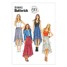 Buy Butterick Women's Skirt Sewing Pattern, 5892 Online at johnlewis.com