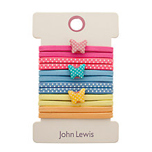 Buy John Lewis Butterfly Hair Clips, Pack of 6, Multi Online at johnlewis.com