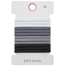 Buy John Lewis Girl Elastic Hairbands, Pack of 12 Online at johnlewis.com