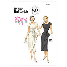 Buy Butterick Women's Dress Sewing Pattern, 5880 Online at johnlewis.com