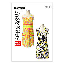 Buy Butterick Accessories Apron Sewing Pattern, 5875, A Online at johnlewis.com