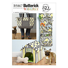 Buy Butterick Accessories Dog House Sewing Pattern, 5867, One Size Online at johnlewis.com