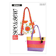 Buy Butterick Accessories Bags Sewing Pattern, 5842, A Online at johnlewis.com