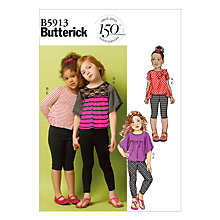 Buy Butterick Girl's Top & Leggings Sewing Pattern, 5913 Online at johnlewis.com