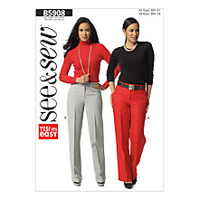 Buy Butterick Women's Trousers Sewing Pattern, 5908, A Online at johnlewis.com