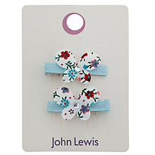 Buy John Lewis Girl Small Butterfly Hair Clips, Pack of 2, Silver Online at johnlewis.com