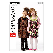 Buy Butterick Children's Top Sewing Pattern, 5904, A Online at johnlewis.com
