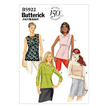 Buy Butterick Women's Perfect Fit Top Sewing Pattern, 5922 Online at johnlewis.com