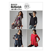 Buy Butterick Women's Loose Fit Top Sewing Pattern, 5925 Online at johnlewis.com