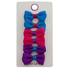 Buy John Lewis Girl Multi Bow Hair Clips, Pack of 6, Multi Online at johnlewis.com