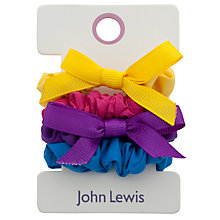Buy John Lewis Girl Bright Mini Scrunchies, Multi Online at johnlewis.com