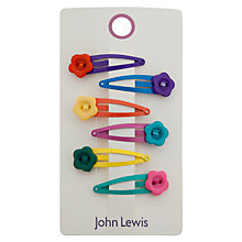 Buy John Lewis Flower Buttons Hair Clips, Pack of 6, Multi Online at johnlewis.com