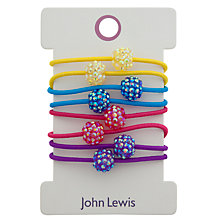 Buy John Lewis Girl Elastic Pave Hair Ties, Pack of 8 Online at johnlewis.com