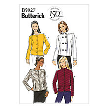 Buy Butterick Women's Zip & Button Jackets Sewing Pattern, 5927 Online at johnlewis.com