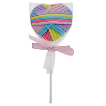 Buy John Lewis Pastel Elastic Hairband Lolly, Multi Online at johnlewis.com