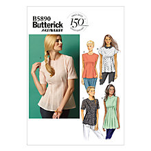 Buy Butterick Women's Top Sewing Pattern, 5890 Online at johnlewis.com