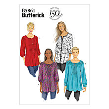 Buy Butterick Women's Tunic Sewing Pattern, 5861 Online at johnlewis.com