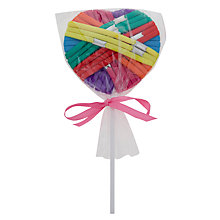 Buy John Lewis Girl Bright Elastic Hair Ties Lolly Online at johnlewis.com